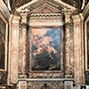 Church of Sant'Andrea al Quirinale, Chapel of St. Francis Xavier, main altar showing the death of the saint  (Baciccio)