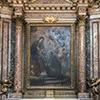 Sant'Andrea al Quirinale, kaplica św. Stanisława Kostki, Adoracja Madonny przez młodego nowicjusza Kostkę, Carlo Maratti