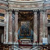 Church of Sant'Andrea al Quirinale,  church according to the design of Gian Lorenzo Bernini, view of the altar apse