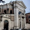 Church of Sant'Andrea al Quirinale, side view of the church with the enterance to the old monastery buildings