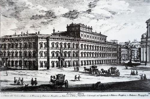Palazzo Altieri, rycina Giuseppe Vasiego