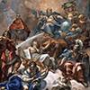 Palazzo Altieri, freski stropu, Carlo Maratti, Clementia, zdj. Wikipedia web gallery of art