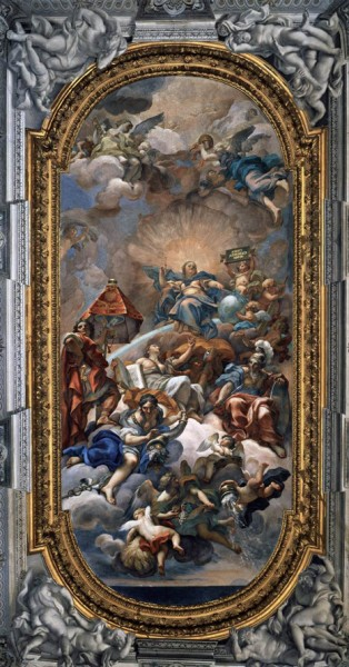 Carlo Maratti, Clementia, Palazzo Altieri, freski stropu, zdj. Wikipedia web gallery of art