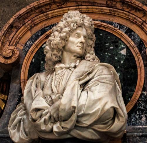 Carlo Maratti, popiersie artysty na pomniku nagrobnym, bazylika Santa Maria degli Angeli