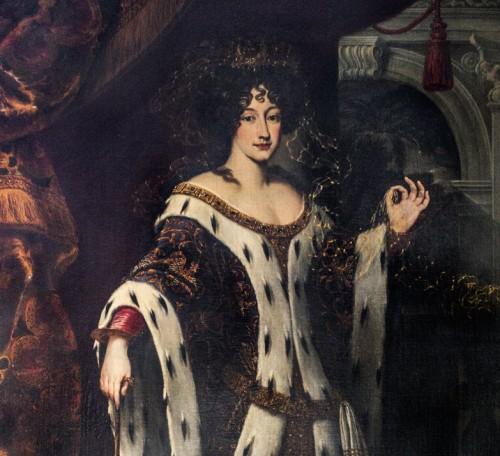 Carlo Maratti, Portret Marii Mancini Mazarino, Galleria Colonna, fragment