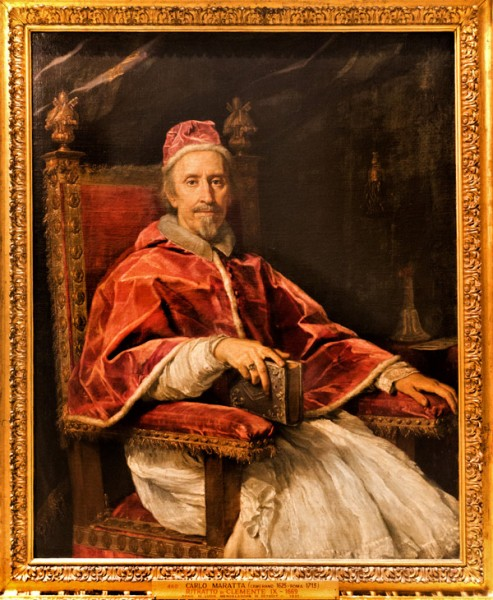 Carlo Maratti, Portret papieża Klemensa IX, Pinacoteca Vaticana - Musei Vaticani