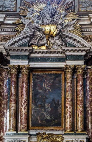 Carlo Maratti, Death of St. Francis Xavier, Church of Il Gesù