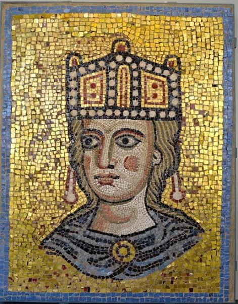 Ecclesia Romana, fragment niezachowanej dekoracji absydy bazyliki San Pietro in Vaticano, Museo Barracco
