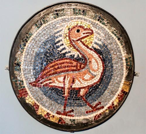 Feniks, element niezachowanej dekoracji absydy bazyliki San Pietro in Vaticano, Museo di Roma, Palazzo Braschi