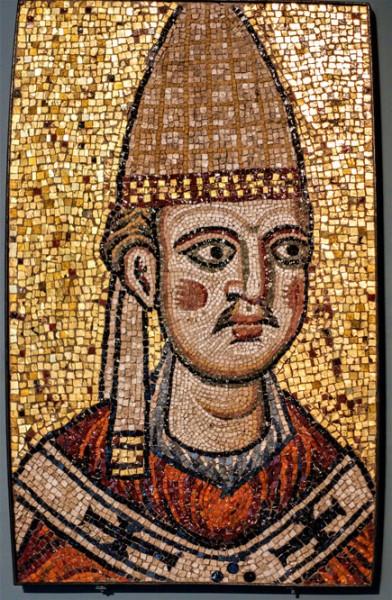 Pope Innocent III, mosaic from the former Constantine Basilica San Pietro in Vaticano, Museo di Roma, Palazzo Braschi