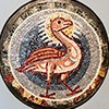 Phoenix, an element of the unpreserved decoration of the apse of the Basilica of San Pietro in Vaticano, Museo di Roma, Palazzo Braschi