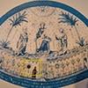Makieta ukazująca rekonstrukcję mozaiki absydy dawnej bazyliki konstantyńskiej,  zniszczonej pod koniec XVI w., Museo di Roma, Palazzo Braschi