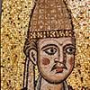 Papież Innocenty III, mozaika z dawnej bazyliki konstantyńskiej San Pietro in Vaticano, Museo di Roma, Palazzo Braschi