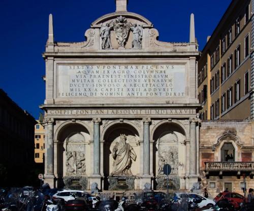 Fontana dell'Acqua Felice (Fontana del Mose), foundation of Pope Sixtus V