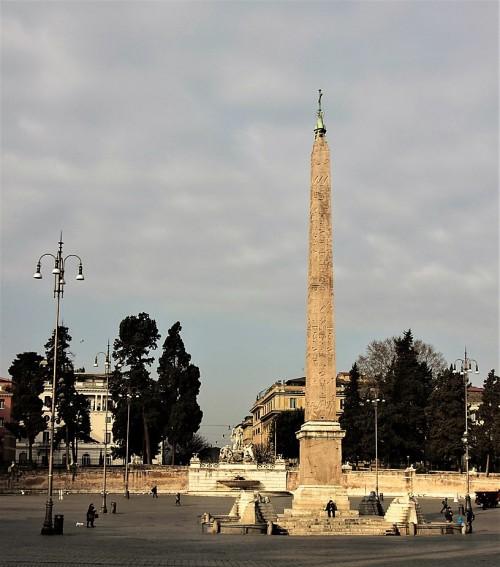 Obelisk Flaminio na Piazza del Popolo
