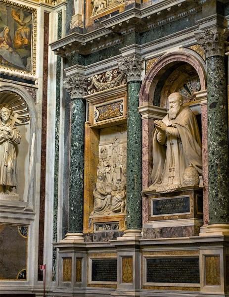 Pomnik nagrobny papieża Sykstusa V, Domenico Fontana, bazylika Santa Maria Maggiore
