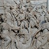 One of the reliefs from the statue of Sixtus V, bounty hunter, Sistine Chapel, Basilica of Santa Maria Maggiore