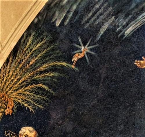 Basilica of Santi Cosma e Damiano, apse – phoenix – the symbol of immortality