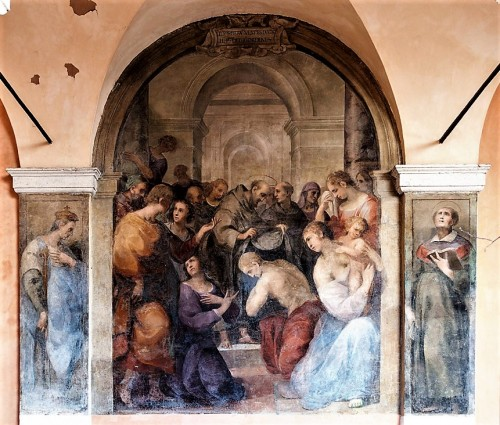Santi Cosma e Damiano, fresk ze św. Franciszkiem w krużgankach klasztornych