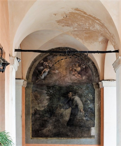 Church of Santi Cosma e Damiano, one of the frescoes in the monastery cloisters