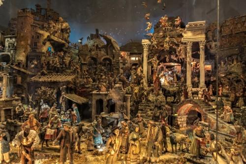 Basilica of Santi Cosma e Damiano, Naples nativity scene from the XVII century