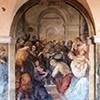 Church of Santi Cosma e Damiano, fresco with St. Francis in the monastery cloisters