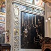 Church of Santi Cosma e Damiano, Chapel of St. John the Baptist, at the top tombstone of the painter Giovanni Baglione