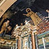Church of Santi Cosma e Damiano, mosaic with a row of lambs at the base of the apse