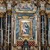 Basilica of Santi Cosma e Damiano, main altar according to the design of D. Castelli with an icon from the XII century