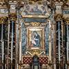 Santi Cosma e Damiano, ołtarz główny wg projektu D. Castellego z ikoną z XII w.