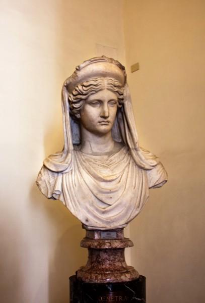 Palazzo Altemps, Ceres (Demeter), Roman replica from the II century