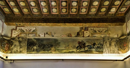 Palazzo Altemps, under the ceiling paintings of one of the palace rooms
