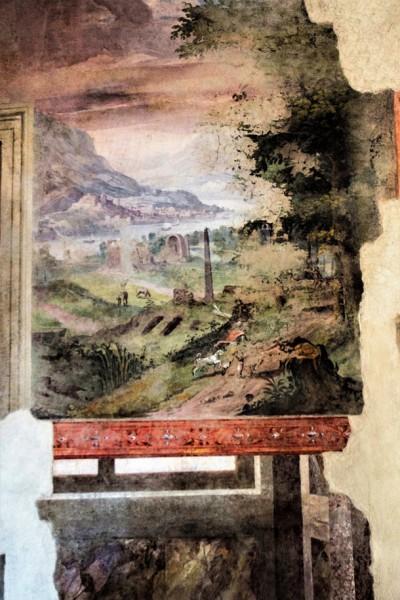 Palazzo Altemps, sala z pejzażami, fragment