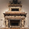 Palazzo Altemps, fireplace with the Altemps family coat of arms (Sagittarius)