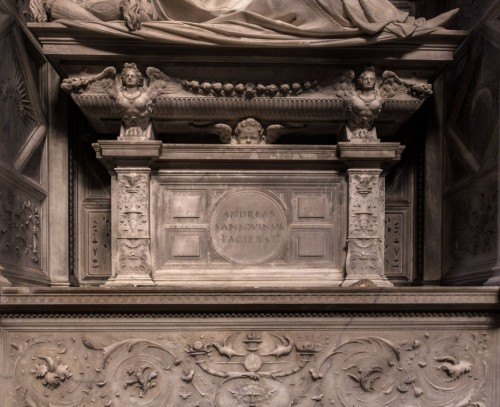 Andrea Sansovino, nagrobek kardynała Ascania Sforzy, fragment, bazylika Santa Maria del Popolo