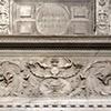 Andrea Sansovino, nagrobek kardynała Ascania Sforzy, fragment dekoracji ornamentalnej, bazylika Santa Maria del Popolo
