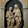 Andrea Sansovino, Święta Anna Samotrzeć, u góry fresk Rafaela, bazylika Sant'Agostino