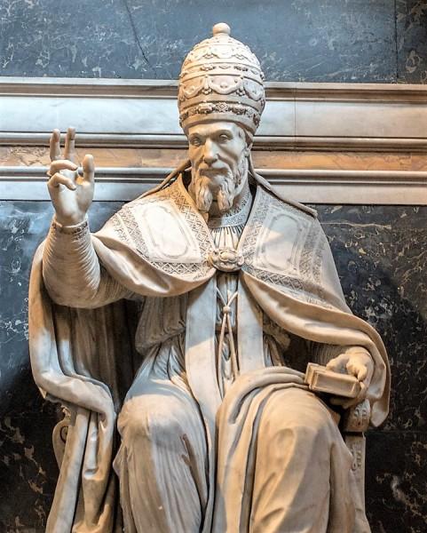 Pomnik nagrobny papieża Urbana VII,  kaplica Zwiastowania, bazylika Santa Maria sopra Minerva