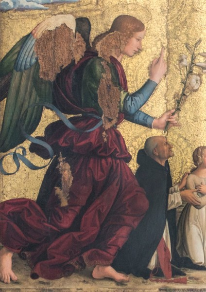 Zwiastowanie, fragment, Antoniazzo Romano, bazylika Santa Maria sopra Minerva