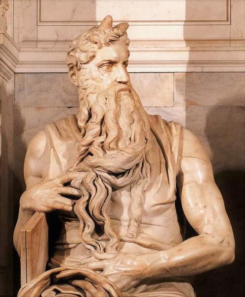 Mojżesz, pomnik nagrobny papieża Juliusza II, Michał Anioł, bazylika San Pietro in Vincoli
