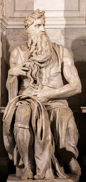 Posąg Mojżesza, pomnik nagrobny Juliusza II, Michał Anioł, bazylika San Pietro in Vincoli