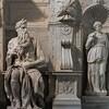 Pomnik nagrobny papieża Juliusza II, Mojżesz, Lea i Rachela, Michał Anioł, bazylika San Pietro in Vincoli