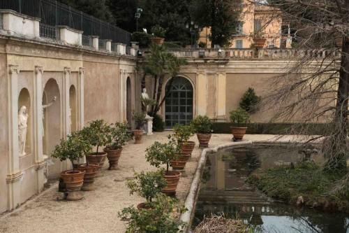 Ogród dolny w Casino di Villa Doria Pamhilj