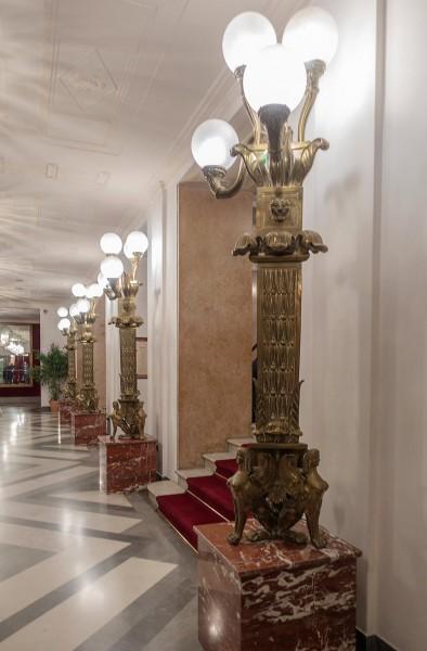 Teatro dell'Opera di Roma, lamps in the theatre foyer