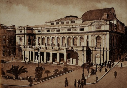 View of the building of the present Teatro dell'Opera in 1939