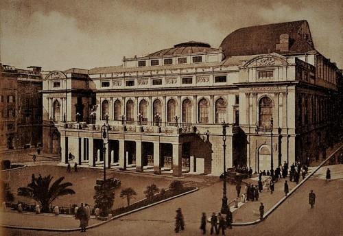 Widok gmachu obecnego Teatro dell'Opera w 1939 roku