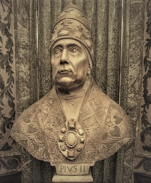 Popiersie papieża Piusa II, Musei Vaticani