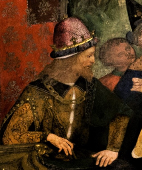 Alleged portrait of Cesare Borgia, fragment, frescos by Pinturicchio, Borgia Apartments, Apostolic Palace