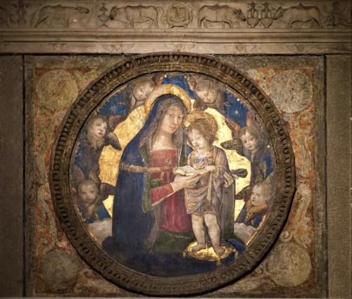 Madonna z Dzieciątkiem pomiędzy aniołami, Pinturicchio, apartamenty Borgii, pałac Apostolski