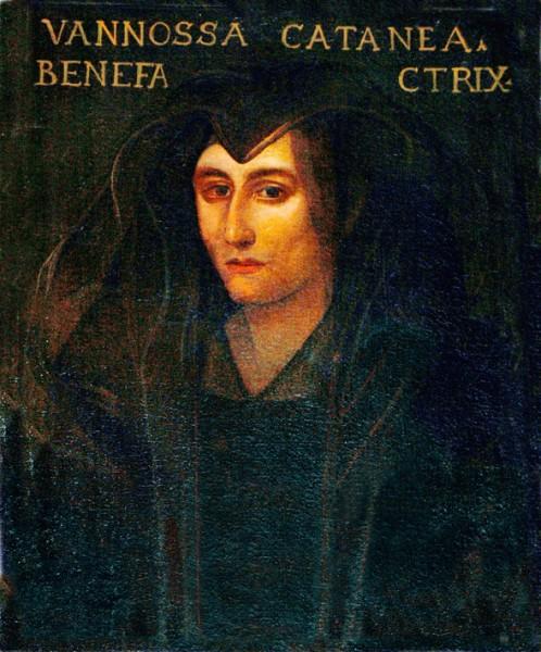 Portret Vanozzy Cattanei w kompleksie szpitala San Cosimato, zdj. Wikipedia, autor Peter1936F